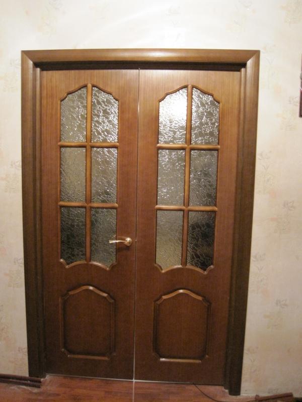 как устанавливать межкомнатные двухстворчетые двери самому