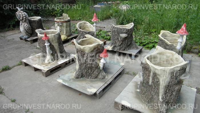 Фигурки из бетона для сада мастер класс