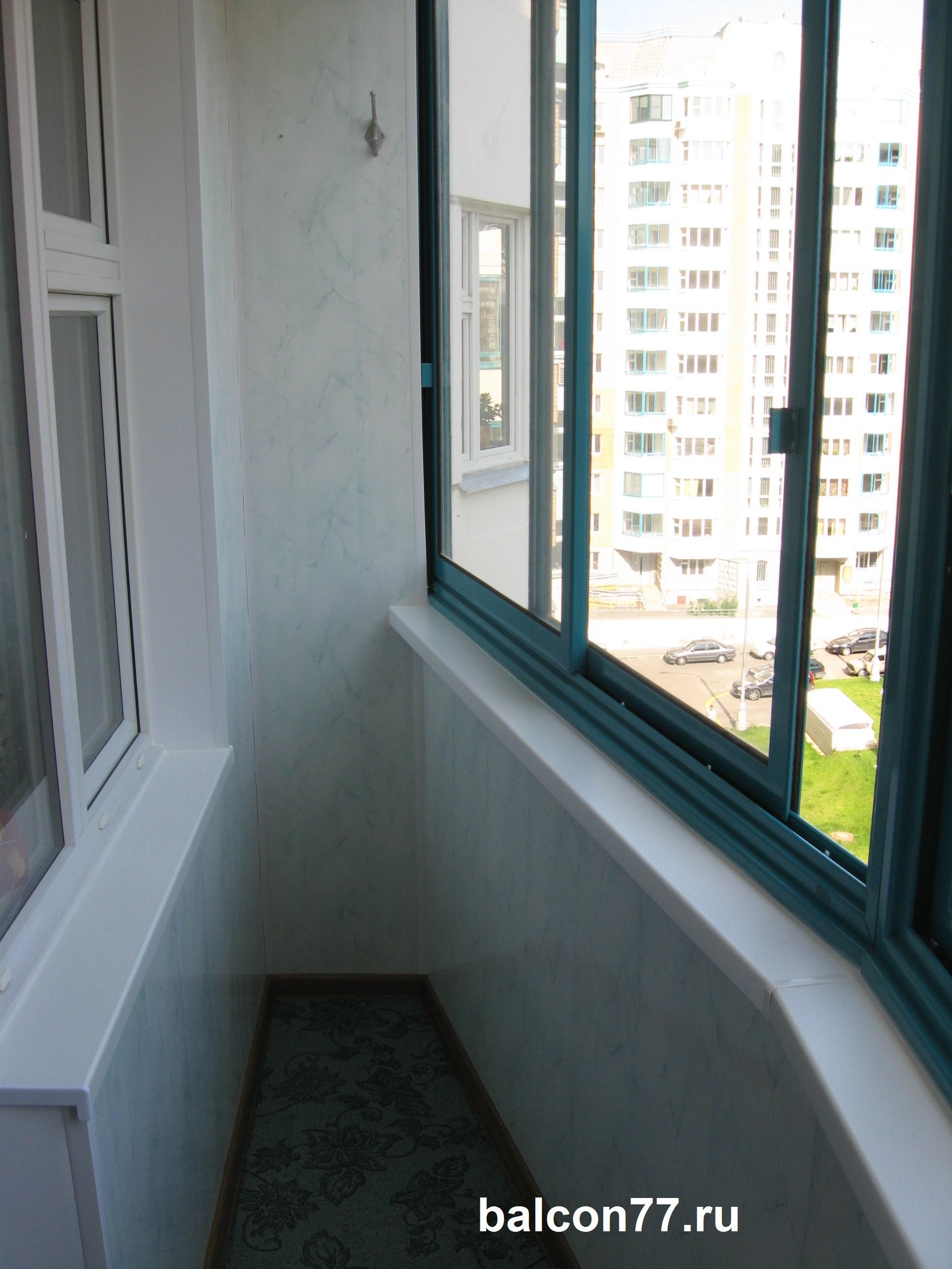 Отделка балкона лодочка п44т. - оригинальные балконы - катал.
