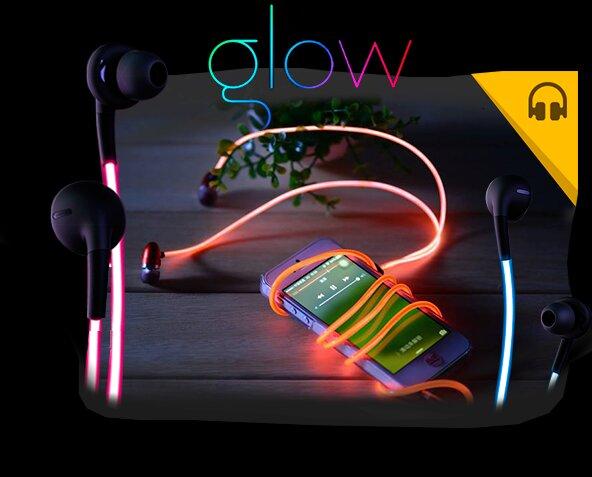 Светящиеся LED наушники