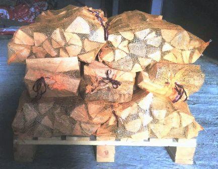 дрова березовые колотые  сухие в сетках