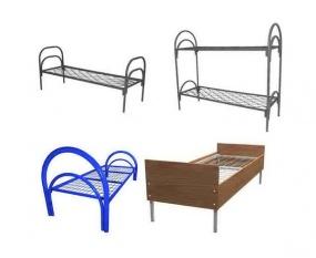 Кровати металлические оптом в общежития, одноярусные, двухъярусные, трехъярусные