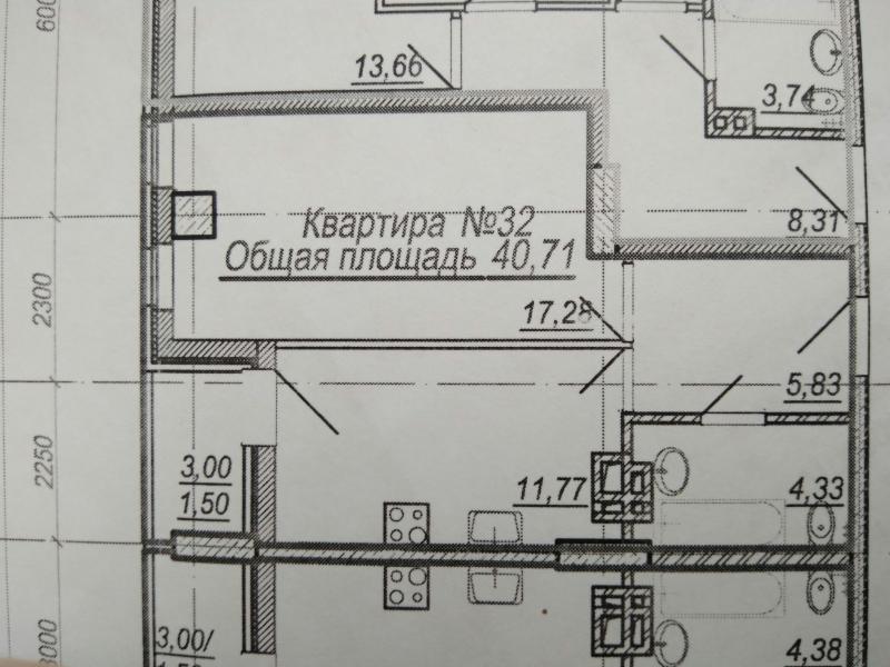 1-к квартира, 40 м2, 424 эт.