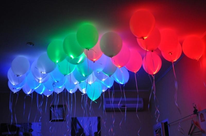 Светящиеся гелиевые шары 30 см