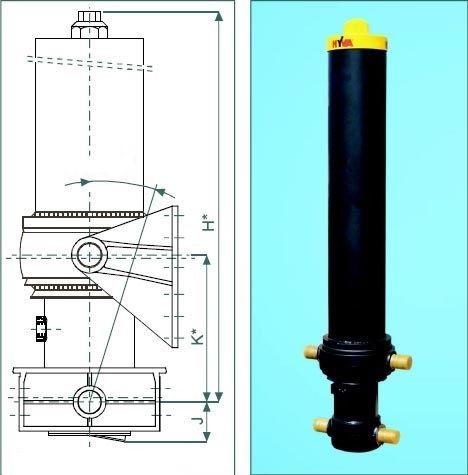 Телескопические подъмные цилиндры
