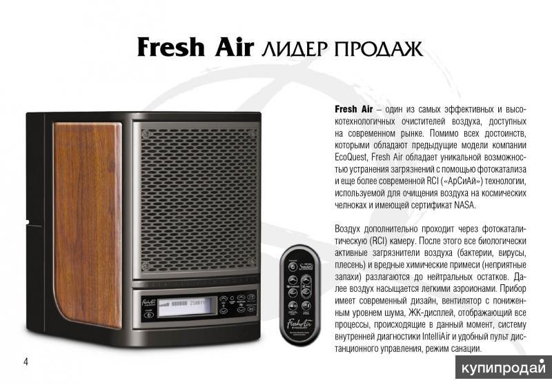 Хит продаж Fresh Air - лучшее соотношение ценакачество
