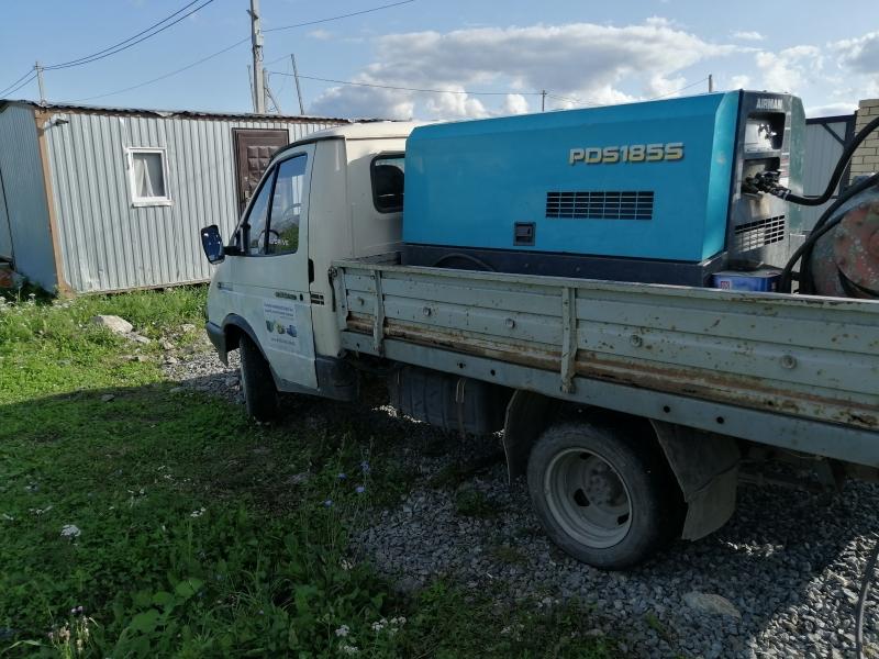 Аренда дизельного компрессора с отбойными молотками