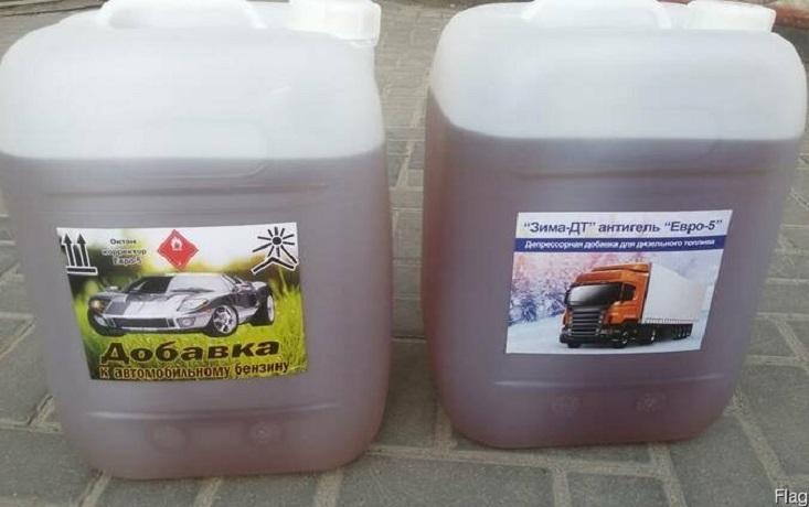 Бензиновая присадка с поглотителем молек. воды